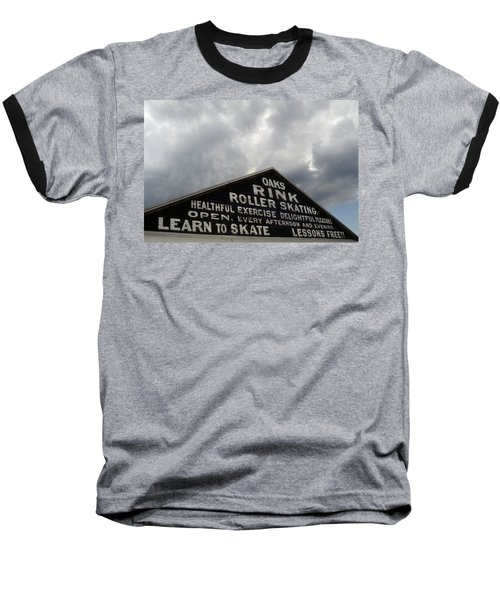 Baseball T-Shirt featuring the photograph Oaks Skating Rink by Frank DiMarco