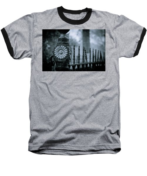 Baseball T-Shirt featuring the photograph Oakwood Cemetery by Linda Unger