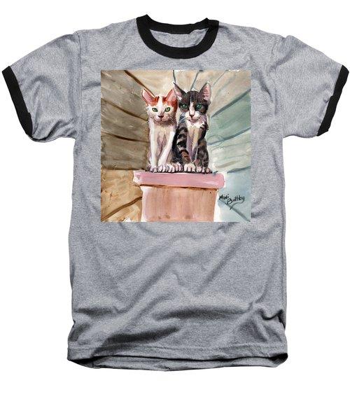 Obi And Lisa Two Kittens Baseball T-Shirt