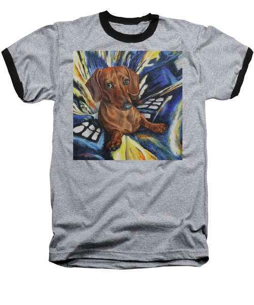 Dachshund Time Lord Baseball T-Shirt
