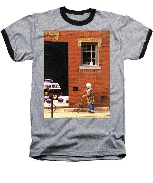 Observing Building Art Baseball T-Shirt