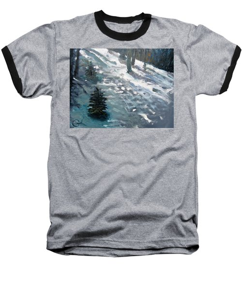 Baseball T-Shirt featuring the painting Observing Snow by Gary Coleman