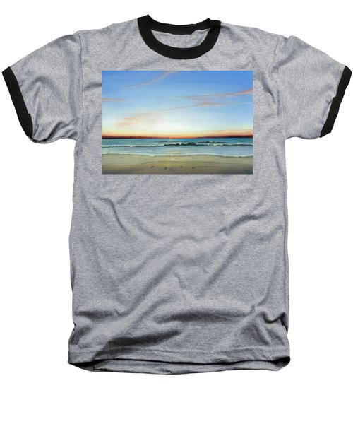 Baseball T-Shirt featuring the painting Obx Sunrise by Albert Puskaric
