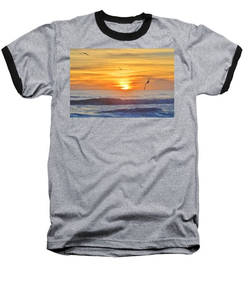 Coquina Beach Baseball T-Shirt
