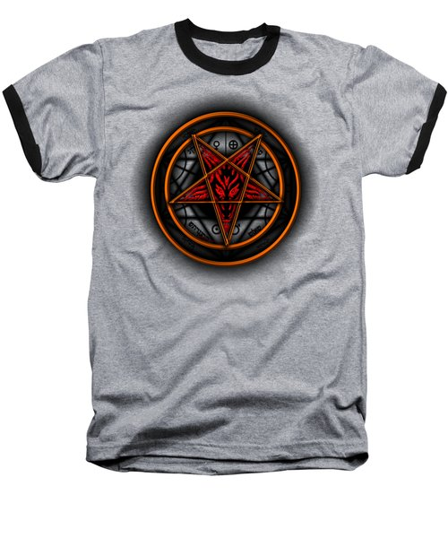 Occult Magick Symbol On Red By Pierre Blanchard Baseball T-Shirt
