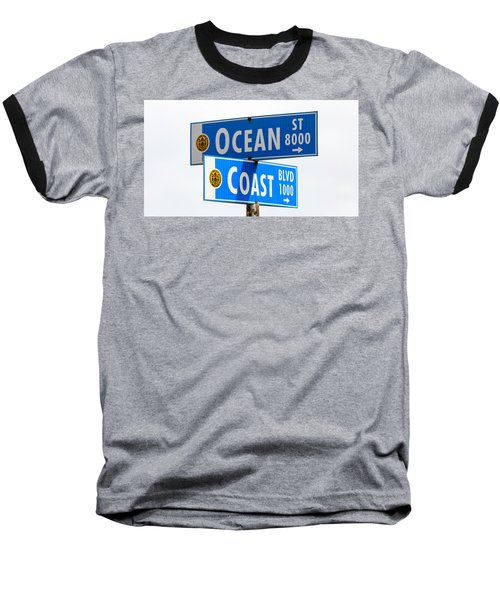 Ocean And Coast Baseball T-Shirt