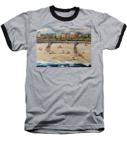 Ocean Ave By John Williams Baseball T-Shirt by John Williams