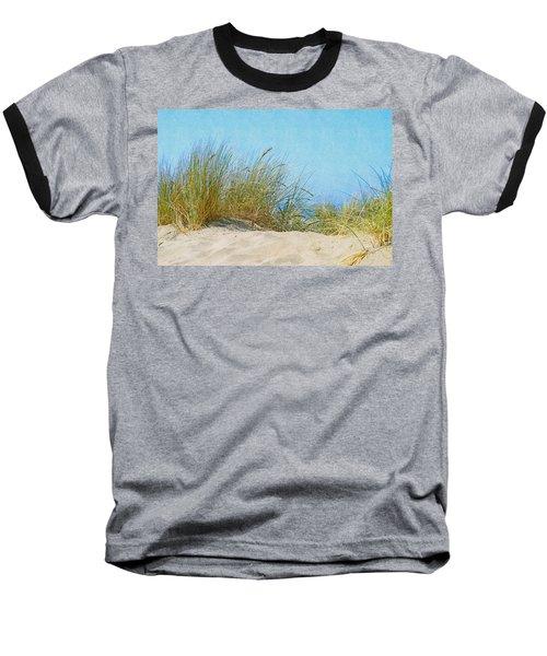 Ocean Beach Dunes Baseball T-Shirt