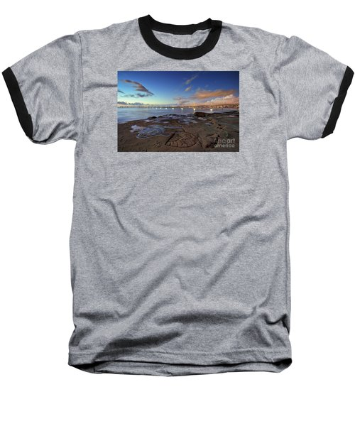 Ocean Beach Pier At Sunset, San Diego, California Baseball T-Shirt