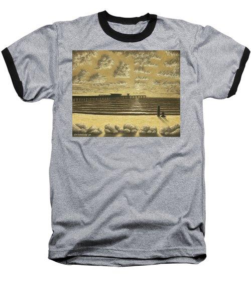 Ocean Beach Pier Sunset 01 Baseball T-Shirt