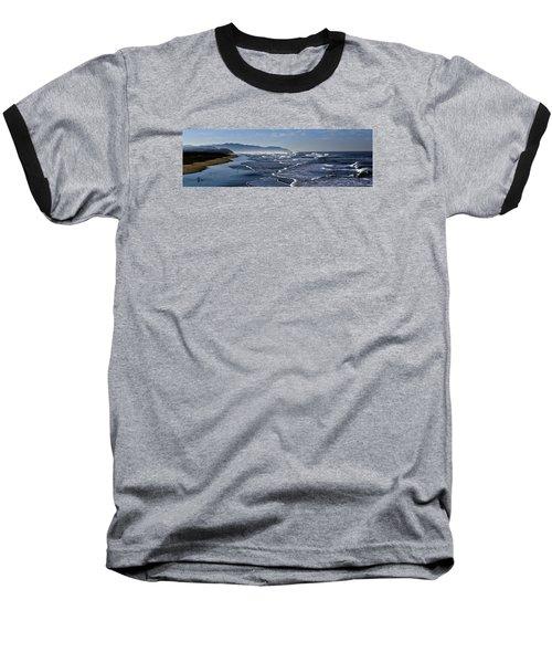 Ocean Beach San Francisco Baseball T-Shirt by Steve Siri
