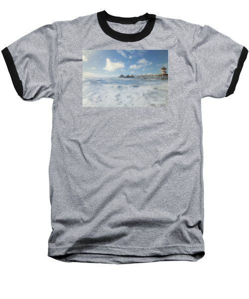 Ocean Blue At The Pier Baseball T-Shirt