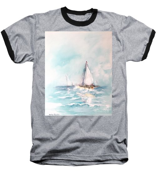 Ocean Blues Baseball T-Shirt