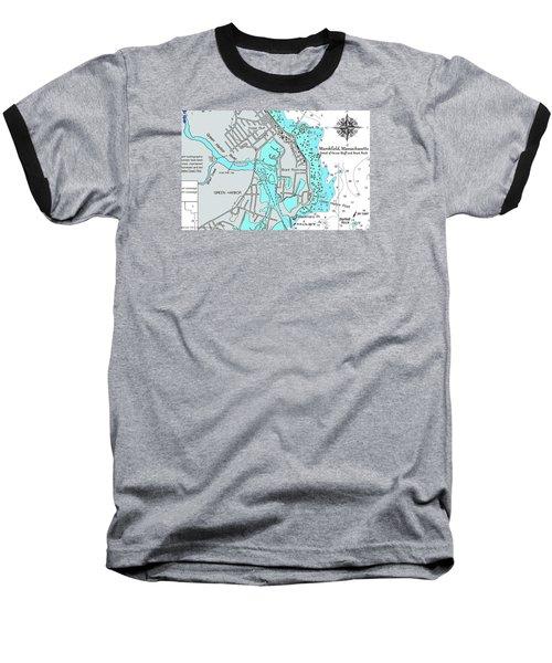 Ocean Bluff And Brant Rock Baseball T-Shirt