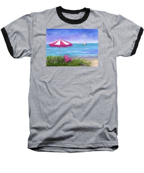 Baseball T-Shirt featuring the painting Ocean Breeze by Sandra Estes