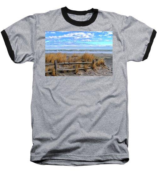 Ocean City Beach Fence Baseball T-Shirt