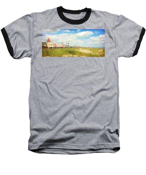 Ocean City Boardwalk Music Pier And Beach Baseball T-Shirt