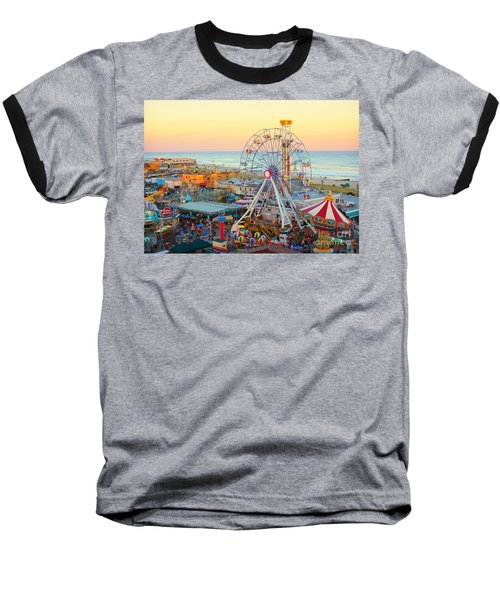 Ocean City New Jersey Boardwalk And Music Pier Baseball T-Shirt