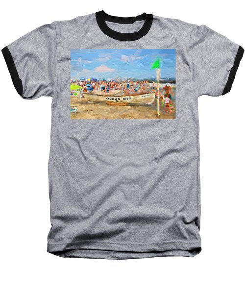 Ocean City Rescue Boat 2 Baseball T-Shirt