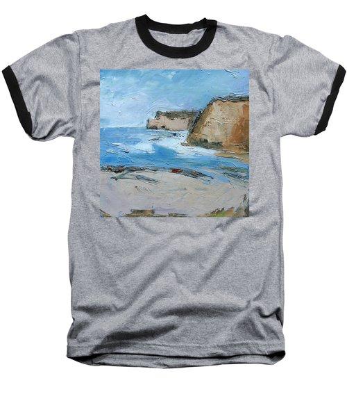 Baseball T-Shirt featuring the painting Ocean Cliffs by Gary Coleman