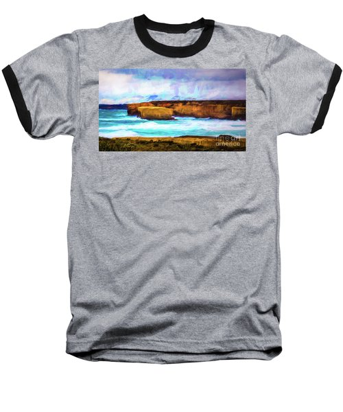 Baseball T-Shirt featuring the photograph Ocean Cliffs by Perry Webster
