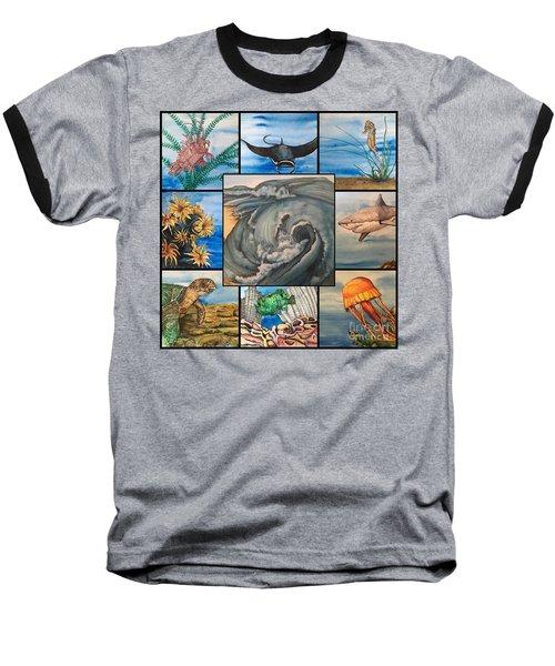 Ocean Collage #1 Baseball T-Shirt