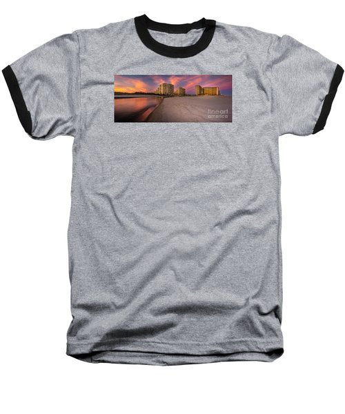 Ocean Creek Panoramic Baseball T-Shirt by David Smith