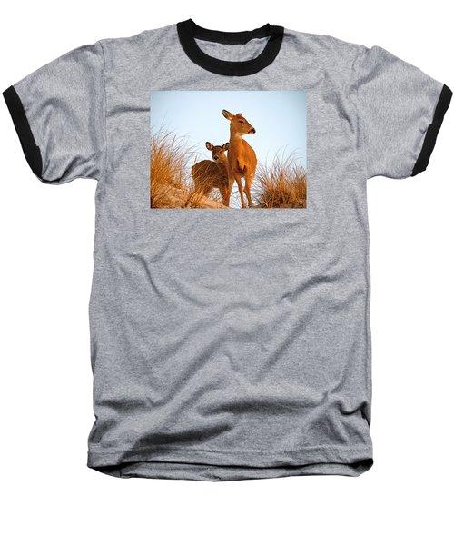Ocean Deer Baseball T-Shirt by  Newwwman