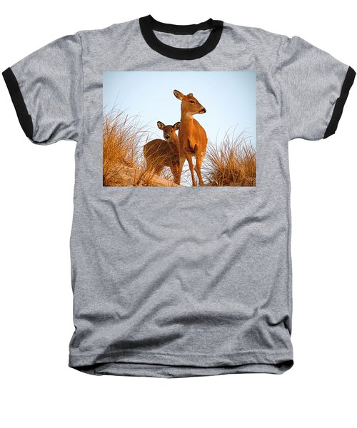 Ocean Deer Baseball T-Shirt