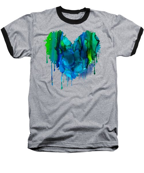 Baseball T-Shirt featuring the painting Ocean Depths by Nikki Marie Smith