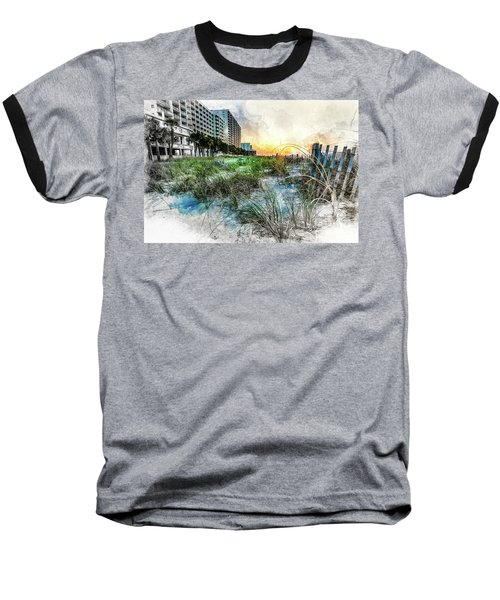 Ocean Drive Easter Sunrise Baseball T-Shirt