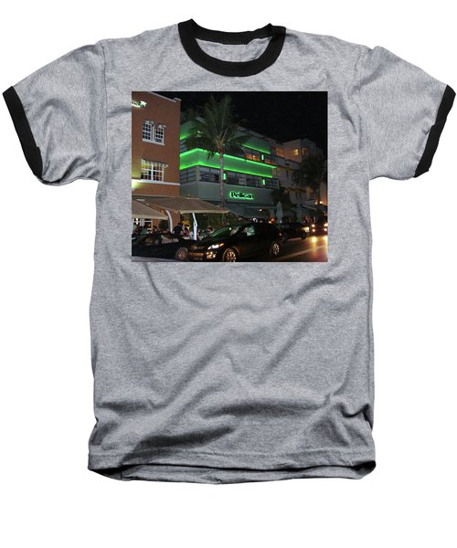 Ocean Drive Miami Beach Baseball T-Shirt