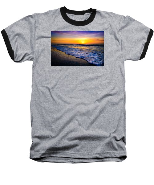 Ocean Drive Sunrise Baseball T-Shirt