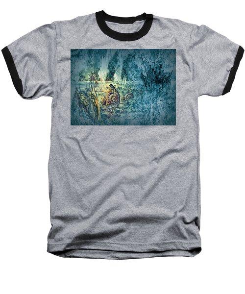 Ocean Floor Baseball T-Shirt