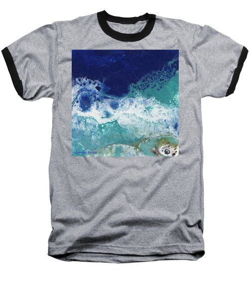 Baseball T-Shirt featuring the painting Ocean by Jamie Frier