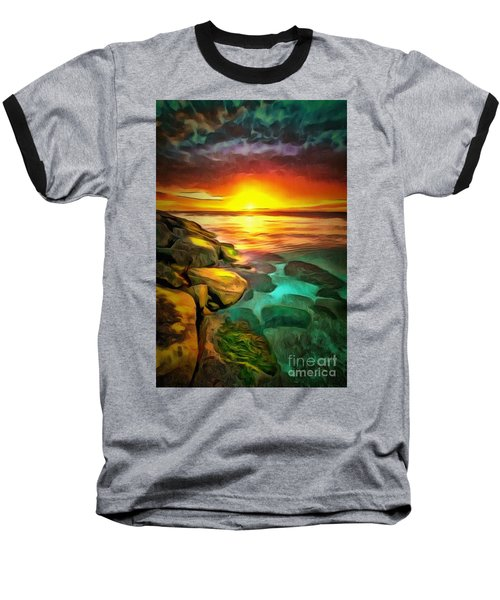 Ocean Lit In Ambiance Baseball T-Shirt