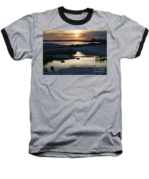 Ocean Point Sunset In East Boothbay Maine  -23091-23093 Baseball T-Shirt