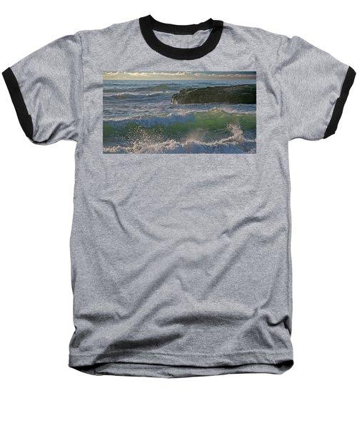 Baseball T-Shirt featuring the photograph Crashing Waves by Elvira Butler
