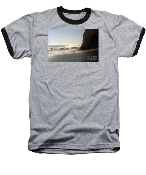 Ocean Rock Beach Headlands Baseball T-Shirt by Ted Pollard