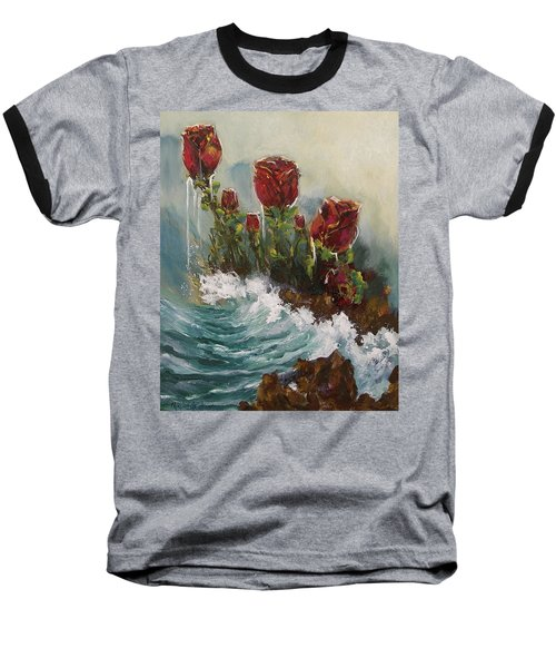 Ocean Rose Baseball T-Shirt