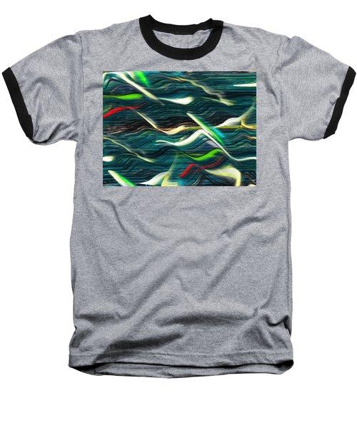 Ocean Run 2 Baseball T-Shirt by Yul Olaivar