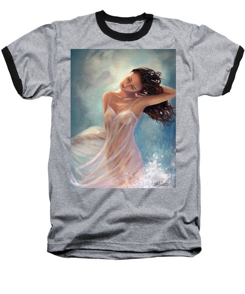 Baseball T-Shirt featuring the painting Ocean Serenade by Michael Rock