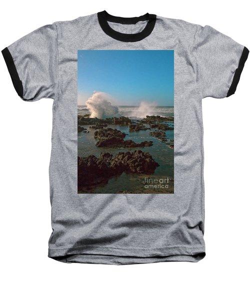 Ocean Spray Baseball T-Shirt by Billie-Jo Miller