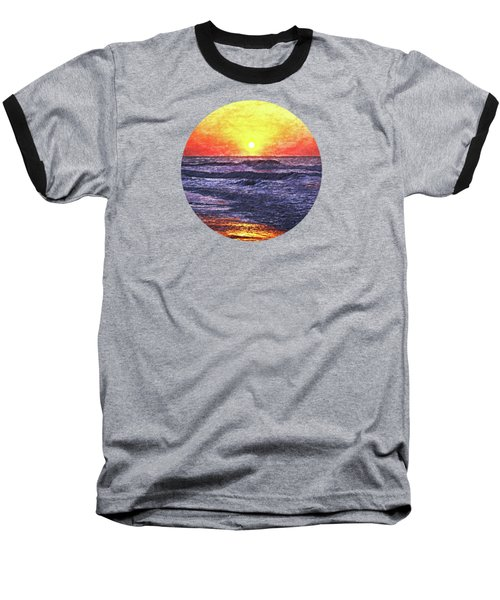 Ocean Sunrise Baseball T-Shirt