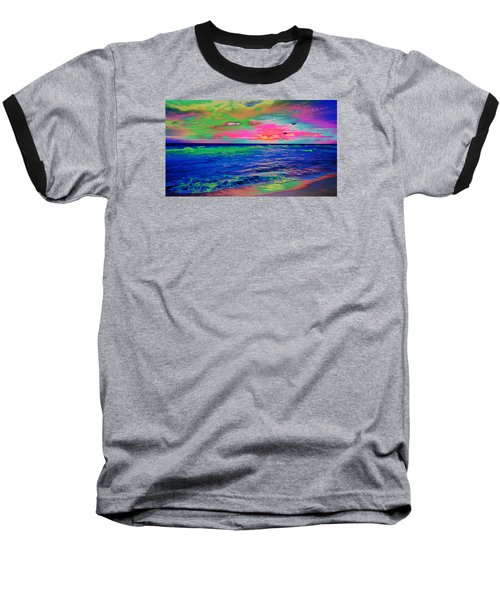 Ocean Sunset 2 Baseball T-Shirt