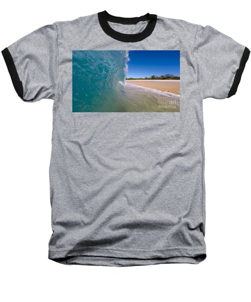 Ocean Wave Barrel Baseball T-Shirt