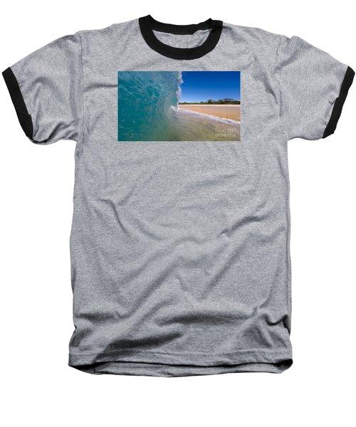 Ocean Wave Barrel Baseball T-Shirt