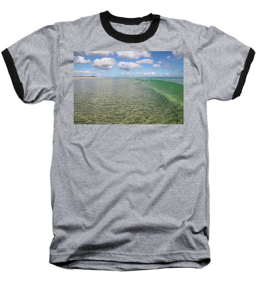 Ocean Waves And Clouds Rollin' By Baseball T-Shirt