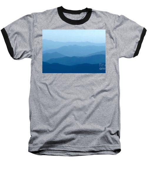 Baseball T-Shirt featuring the digital art Ocean Waves by Anthony Fishburne