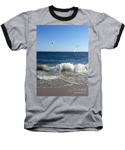 Ocean Waves Baseball T-Shirt